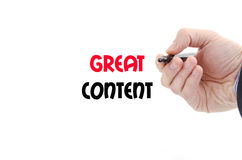 Great content text concept Stock Images