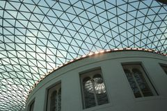 The Great Court. Interior of the British Museum royalty free stock photo