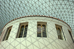 Great court british museum. Ceiling Royalty Free Stock Image