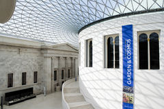 The Great Court in the British Museum in London Royalty Free Stock Photo