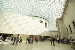 Great Court inside the British Museum, London Stock Image