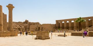 Great court at the Karnak Temple Complex, Luxor, Egypt royalty free stock photos