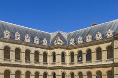 Great Court of Les Invalides complex, Paris Royalty Free Stock Image