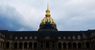 Great Court of Les Invalides complex, Paris, France stock photos