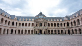 Great Court of Les Invalides complex timelapse stock video