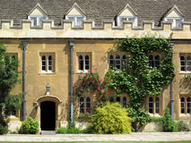 Great court of Trinity College Cambridge Universit Royalty Free Stock Images