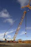 Great crane. For heavy elevation works Stock Photo