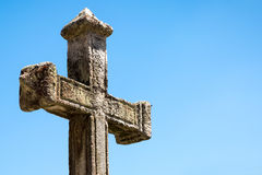 Great cross religion on beautiful day Stock Image