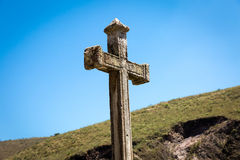 Great cross religion on beautiful day Royalty Free Stock Photography