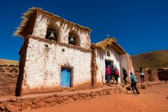 Church on Machuca, San pedro royalty free stock photo