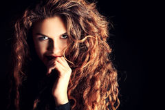 Great curly hair stock image