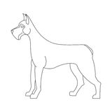 Great dane dog. Creative character mammal, profile animal, vector illustration Stock Photo