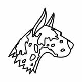 Great dane dog icon, outline style Royalty Free Stock Photos