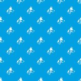 Great dane dog pattern seamless blue. Great dane dog pattern repeat seamless in blue color for any design. Vector geometric illustration Royalty Free Stock Image