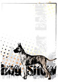 Great dane on the vertical poster Royalty Free Stock Photos
