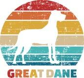 Great Dane vintage. Great Dane silhouette vintage and retro vector illustration