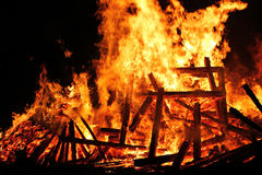 A great dangerous fire Royalty Free Stock Images