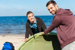 Great day for camping. Stock Image