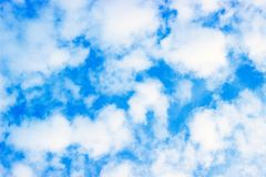 Great Day Light, Blue Sky and Beautiful Clouds Close Up, Spring Time royalty free stock image