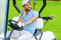 Great day to play golf! Royalty Free Stock Images