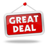 Great deal concept 3d illustration Royalty Free Stock Photos