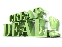 Great Deal Green 3D lettering Royalty Free Stock Image