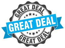 Great deal stamp. Great deal grunge stamp on white background Stock Photo