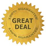 Great deal guarantee label royalty free illustration
