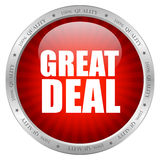 Great deal icon. Great deal glossy icon illustration Stock Images