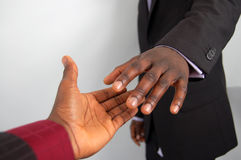 Great Deal Partner. This is an image of a two hands about to perform a handshake. (Please let me know where the image will be used by leaving a message in the royalty free stock images