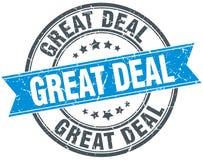Great deal stamp. Great deal round grunge vintage ribbon stamp. great deal vector illustration