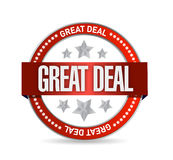Great deal seal illustration design Royalty Free Stock Photo