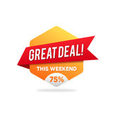 Great Deal Shopping Discount Promotion. vector illustration Royalty Free Stock Image