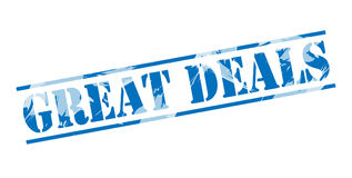Great deals blue stamp Stock Photography
