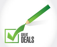 Great deals check mark sign concept Stock Photo
