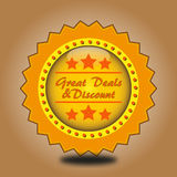 Great deals and discount sticker Royalty Free Stock Photo