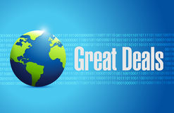 Great deals international sign concept Royalty Free Stock Photography