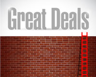 Great deals ladder concept illustration Royalty Free Stock Photography