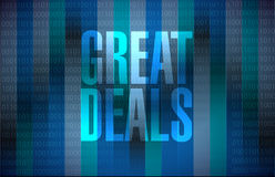 Great deals sign concept illustration Stock Images