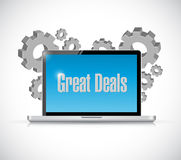 great deals tech computer sign concept Stock Photo