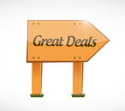 great deals wood sign concept Stock Photos