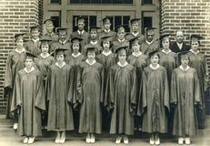 Great Depression Era 1930s High School Graduating Class Stock Image