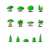 Great designed cartoon trees Royalty Free Stock Photo