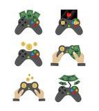 Great designed set of gamepads Royalty Free Stock Image
