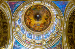 The great dome of St Isaac's Cathedral in St Petersburg Stock Photo