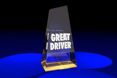 Great Driver Driving Safety Award Words. 3d Illustration Royalty Free Stock Image