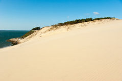 The Great Dune of Pyla. And Arcachon Bay, France Royalty Free Stock Photography