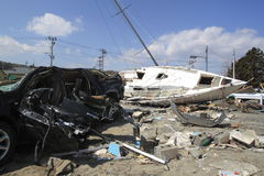 The Great East Japan Earthquake stock image