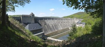 The Great Edersee Dam, Germany (Panorama) Royalty Free Stock Image