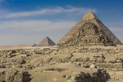 Great Egyptian pyramids in Giza, Cairo Stock Photos